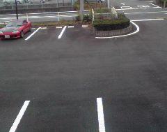 店舗の駐車場舗装